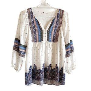 Daniel Rainn bohemian peasant style blouse